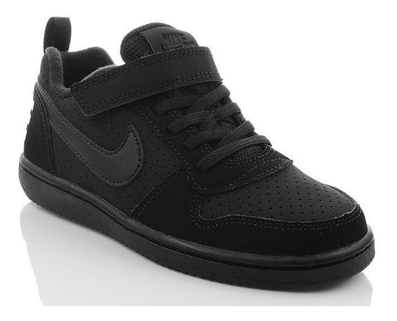 Nike Court Borough Low Black Infantil Original C Nota Fiscal