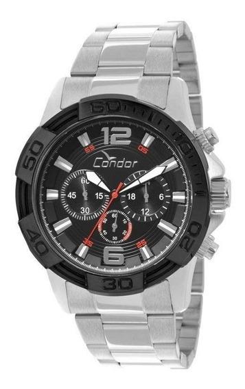 Relógio Masculino Condor Grande Covd54ab/3p Pulseira Aço Prata Covd 54 Ab 54ab