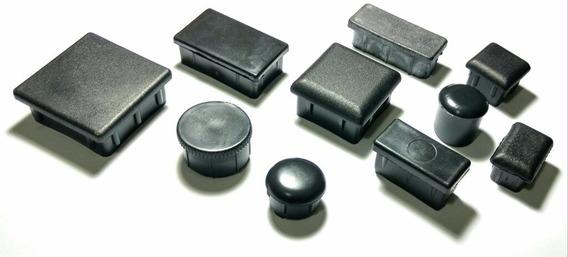 20x Tampas De Metalon 20mm X 20mm, Interna De Plastico Preta