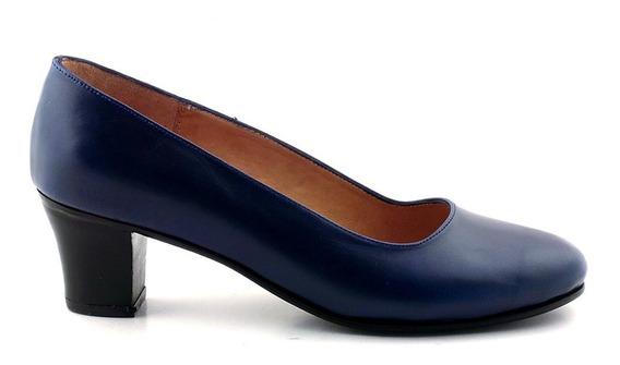 Zapato Cuero Mujer Briganti Clásico De Vestir - Mccz03417