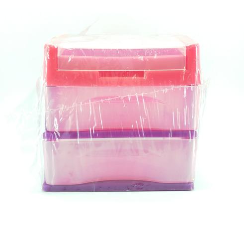 Organizador Mini Con Tapa Mundiplas Hecho En Plástico