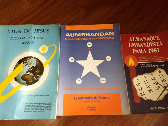 3 Livros Raros Sobre Umbanda E Espiritismo Lote