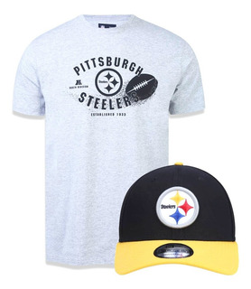 Kit Camiseta + Boné Pittsburgh Steelers Nfl New Era