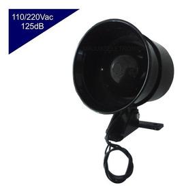 Sirene P/ Alarme Bivolt 110v 220v Potente Forte 125db Preta