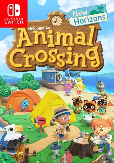 Switch Animal Crossing New Horizons Lacrado Mídia Física