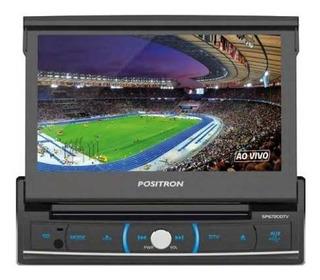 Radio Auto Fm Mp3 Tv Dvd Lcd Bluetooth Usb Aux Rds Positron