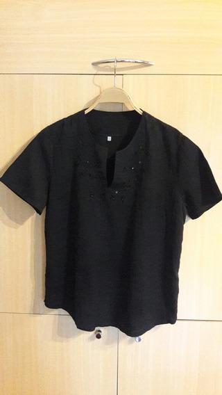 Camisola Blusa Talle 3 Negro
