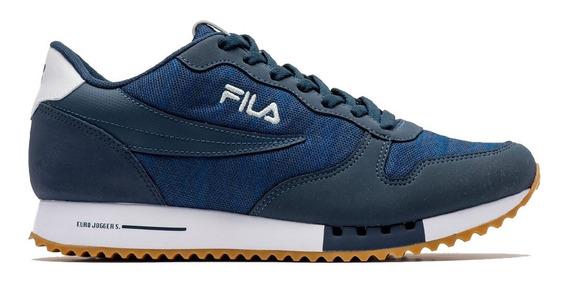 Zapatillas Fila Euro Jogger Sport Urbanas De Mujer Azu/bla