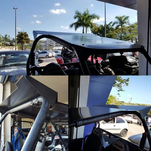 Teto De Aluminio Utv Compatível C/ Polaris Xp 1000 Rzr 900s