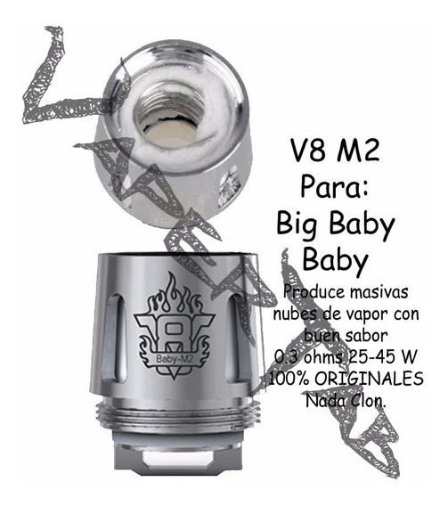 Pak 5 Resistencias M2 0.15 Ohms Tfv8 Stick Big Baby Y Baby !