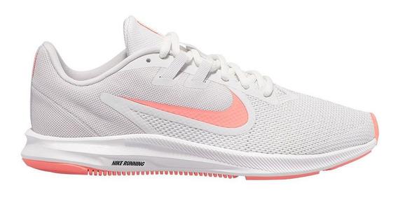 Tênis Nike Downshifter 9 Branco E Rosa - Original