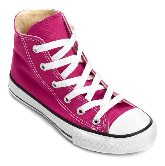 Tenis All Star Converse Infantil Cano Médio Pink Original + Nota Fiscal