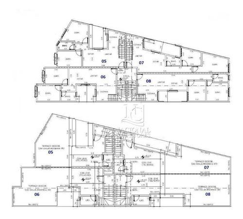Imagem 1 de 20 de Apartamento Com 2 Dormitórios À Venda, 50 M² Por R$ 249.000 - Vila Guiomar - Santo André/sp - Ap9060