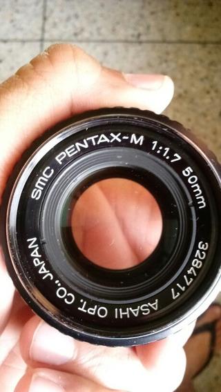 Lente Pentax-m Smc 50mm F1.7 Montura Pentax K