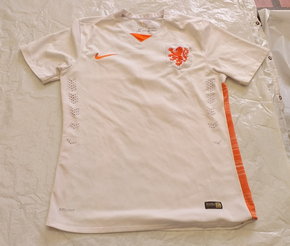 Camiseta De Holanda Marca Nike Blanca #7 Detalles
