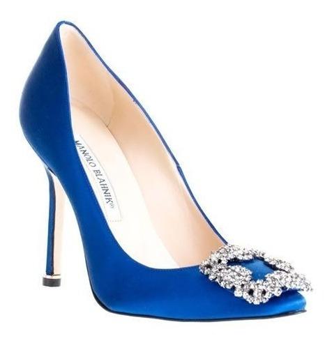 Zapatillas Manolo Blahnik Azules 100% Originales