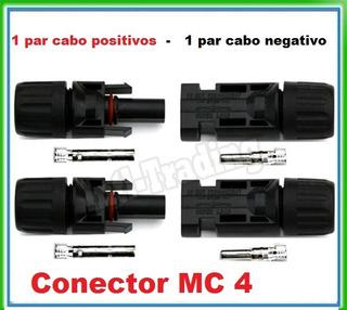 4 Par Conector Plug Mc4 Painel Placa Solar Fotovoltaico 1ªli