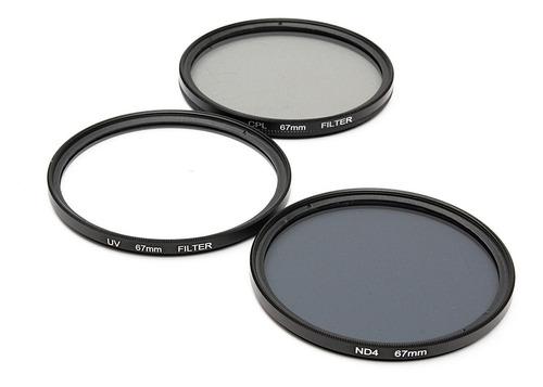 Imagem 1 de 5 de 7 Pcs 67mm Uv Cpl Nd4 Kit De Filtro Polarizante Circular Con