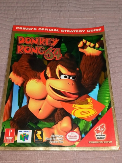 Revista Guia Oficial Do Jogo Donkey Kong 64 Da Prima Games