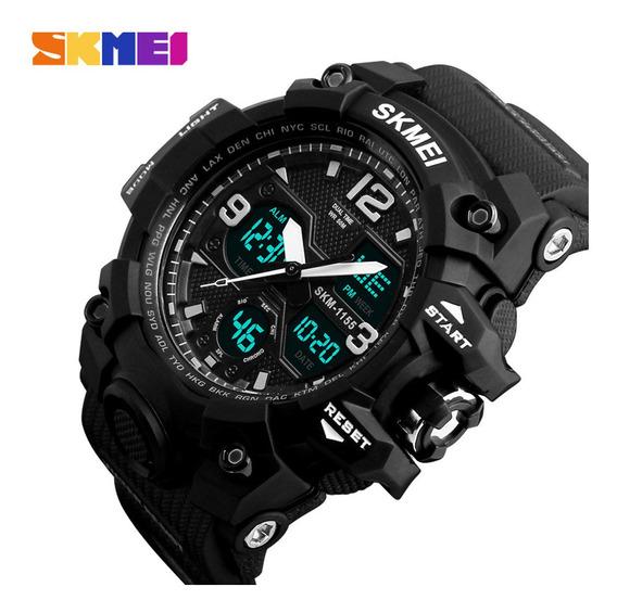 Relógio Masculino Estilo Militar Skmei 1155 A Prova De Água Resistente A Shock