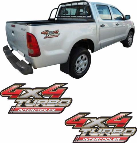 Adesivo Toyota Hilux 4x4 Turbo  Intercooler Par 2011