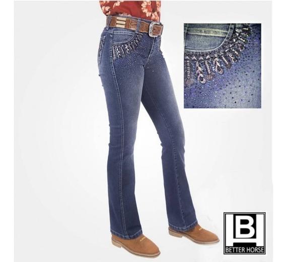 Calça Jeans Bordada/strass Alabama -ref: 902.004.0533