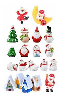 20 Piezas Resina Adornos Navidad Miniatura Artesaní Navida