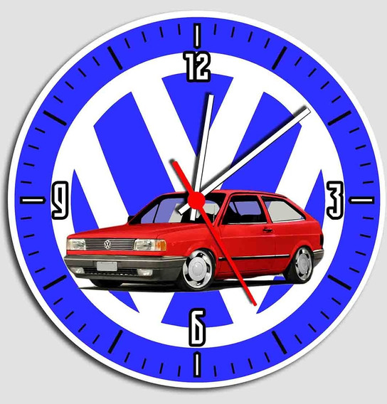 Relógio De Parede Decorativo Gol Quadrado * Vw Roda Futura