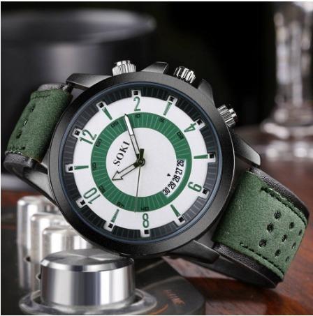 Relógio Soki De Couro