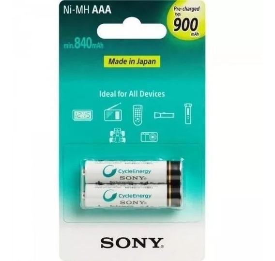 Pilha Sony Recarreg. Aaa C/2 Unid. 900mah Nimh Nh-aaa B2gn
