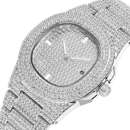 Reloj Hip Hop Lady - Plata