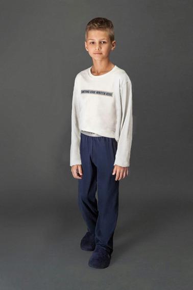 Pijama Infantil Long Comforto Freemans - Lua Luá Imperdível