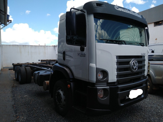 Vw 24280/15 Branco 6x2 No Chassis Completo