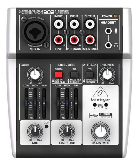 Mesa De Som Behringer Xenyx 302usb Mixer Compacto 3 Canais