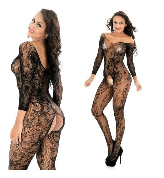 Sexy Bodystocking Crotch Entrepierna Body Completo Lenceria
