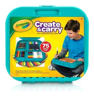 Kit Arte Crayola Create & Carry X 75 Piezas Ideal Viajes