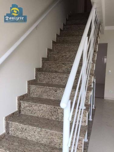 Sobrado Com 3 Dormitórios À Venda, 155 M² Por R$ 650.000,10 - Bangu - Santo André/sp - So1384