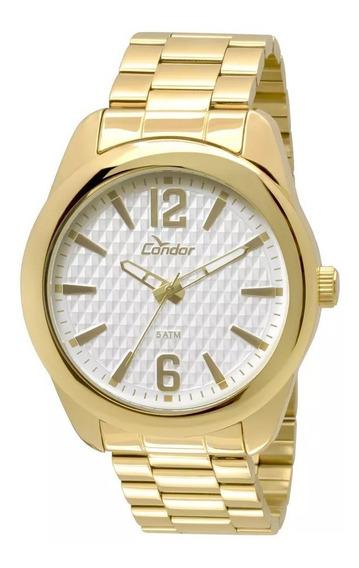 Relógio Condor Masculino Dourado Fundo 3d Co2036de/4b + Nf