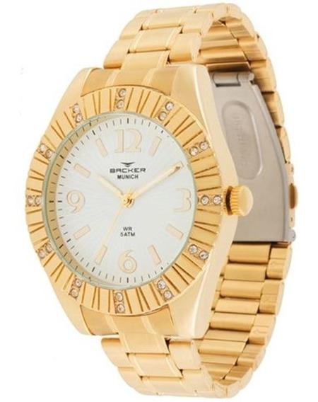 Relógio Feminino Backer Munich Dourado 3936145fbr
