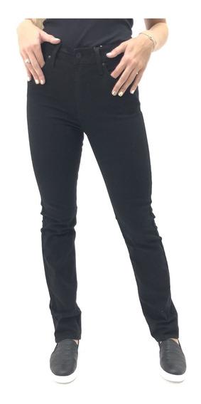 Calça Levis Tradicional Jeans Algodão Preto Feminina