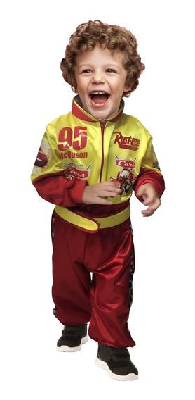 Disfraz Cars Niños Piloto Carreras Rayo Mcqueen Halloween