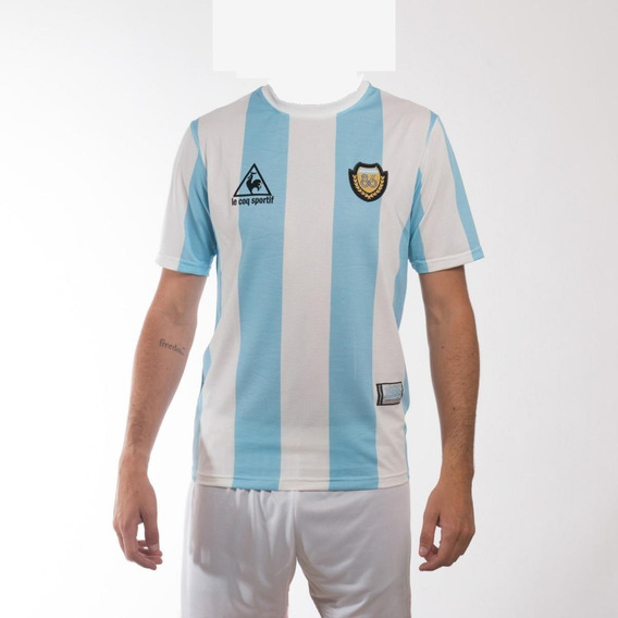 Camiseta Argentina Maradona Lecoq Mexico 86 Envíos Gratis