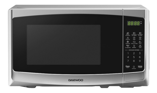 Imagen 1 de 1 de Daewoo Horno Microondas 0.7 Pies Silver Dmdp07s2bg