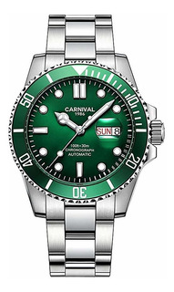 Mens Automatic Watches Classic Rotatable Bezel Stainless