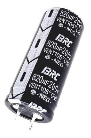 Capacitor Eletrônico Brc Vent 820uf X 200v 105 Graus