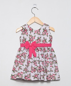 Vestido, Cor Floral - Asas De Anjo