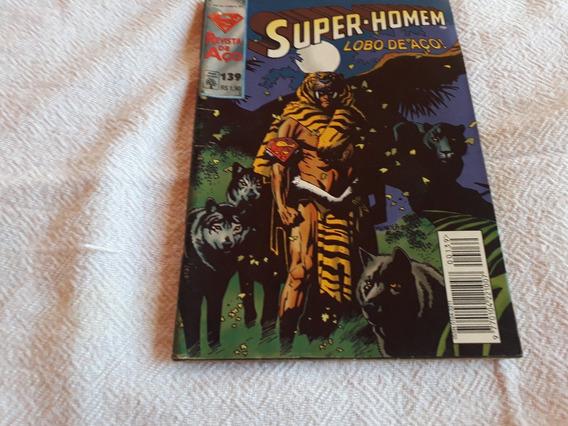 Gibi Antigo Raro Super-homem Lobo De Aço N° 139 Ano 1996