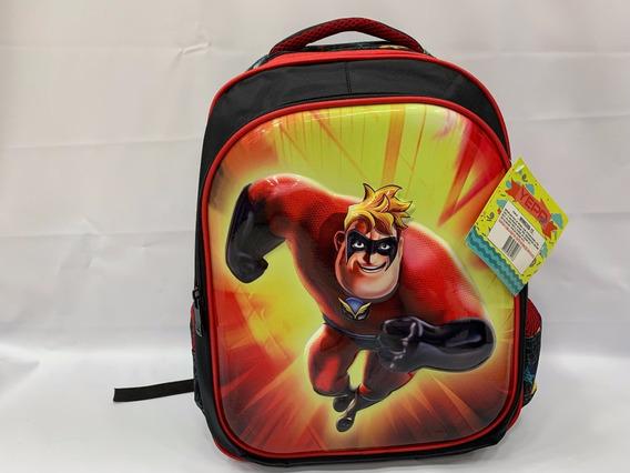 Mochila Infantil Escolar Costas G Os Incriveis 3d Vermelho