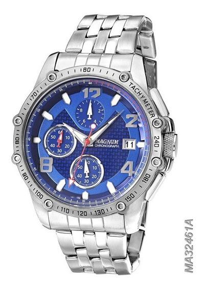 Relógio Magnum Masculino Cronógrafo Azul Ma32461a