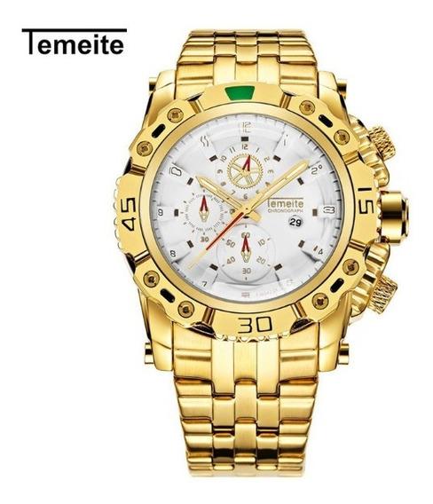 Relógio Masculino Temeite Quartz 3d Original Luxo T13g